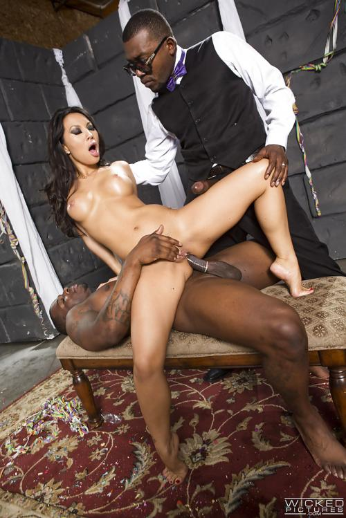 Asa Akira bottle blowjob pale brunette pornstar