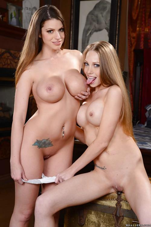 Brooklyn Chase and Shawna Lenee sexy humping pic sex while clothed